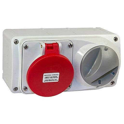 Lewden PM16/454146LW 16A 3P+N+E 400V Switched Socket IP44