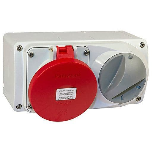 Lewden PM32/454246LW 32A 3P+N+E 400V Switched Socket IP44