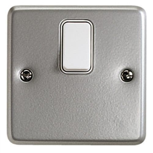 MK Electric K5212ALM Metalclad Plus Double Pole 1 Gang Switch.