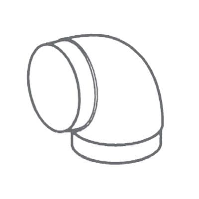 """Manrose 55900 90 Bend for Round Pipes PVC 120mm (5"""")"""