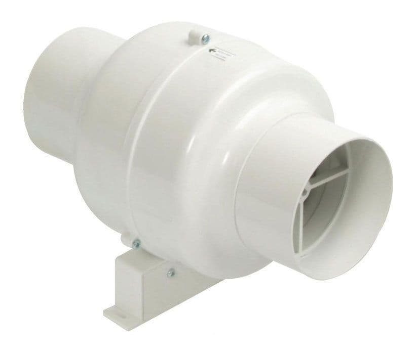 Manrose CFD200TN (Previously CFD200T) In-Line Centrifugal Fan - 100mm Timer Model W/ Bracket