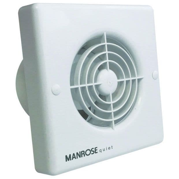 """Manrose QF100H 4"""" Quiet Extractor Fan with Integral Humidistat and Timer"""