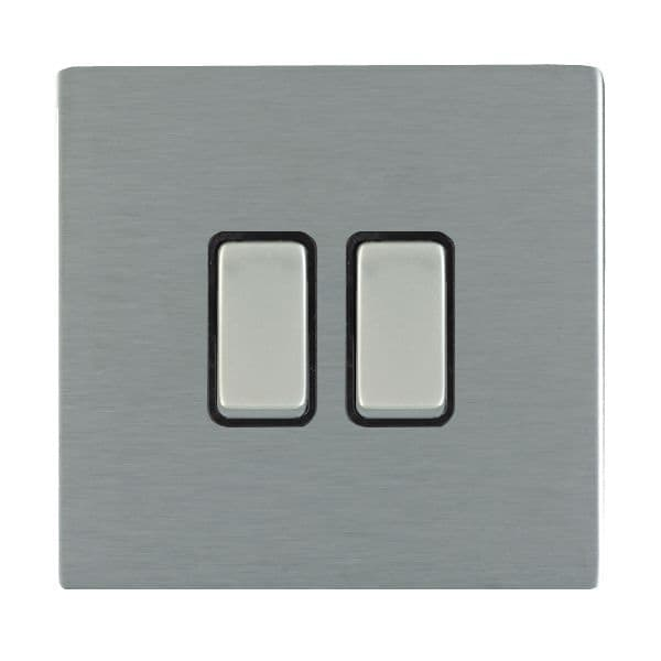 Sheer CFX 84CR22SS-B and 84CR22SS-W Satin Steel 10a Light Switch 2G 2W