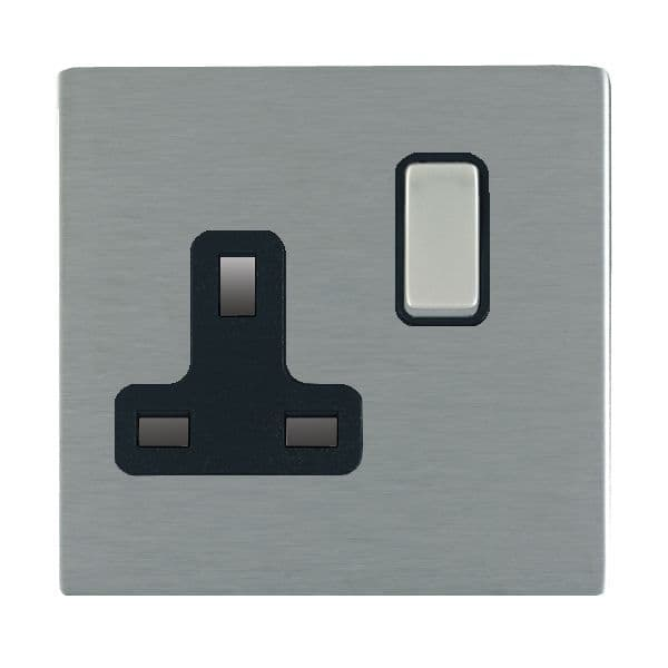 Sheer CFX 84CSS1SS-B and 84CSS1SS-W Satin Steel 13a Single Socket