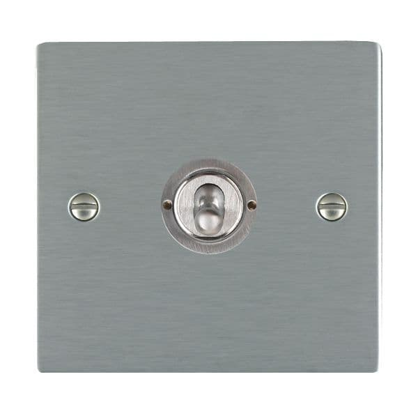 Sheer CFX 84CT21 Satin Steel 10a Dolly Switch 1G 2W