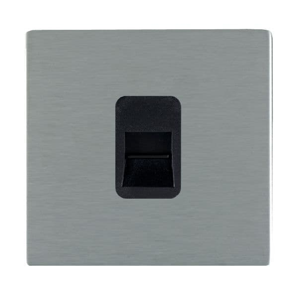 Sheer CFX 84CTCSB and 84CTCSW Satin Steel Telephone Slave Socket