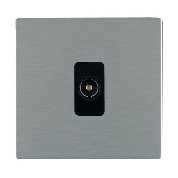 Sheer CFX 84CTVB and 84CTVW Satin Steel TV Socket