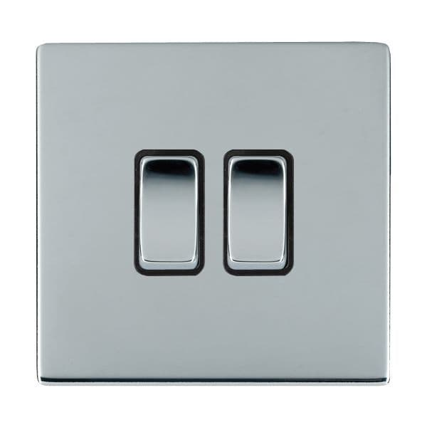 Sheer CFX 87CR22BC-B and 87CR22BC-W Bright Chrome 10a Light Switch 2G 2W