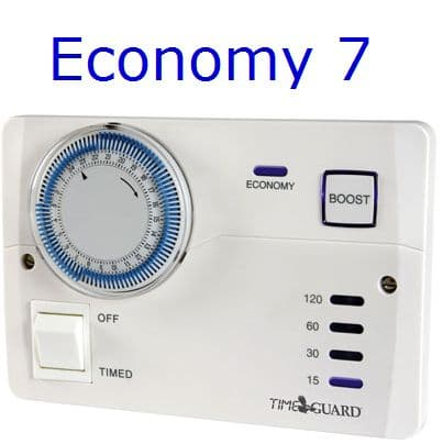 Timeguard TRTM7 Economy 7 Water Heater Controller. Off Peak Immersion Timer