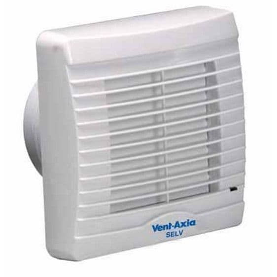 Vent Axia VA100XHP Axial Extractor Fan W/ Humidity Sensor & Pullcord Fan Override W/ Shutters