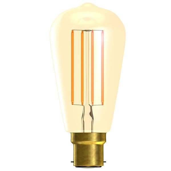 Bell Lighting 01468 4W LED Vintage Squirrel Cage Dimmable - BC/B22, Amber, 2000K