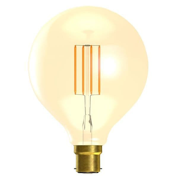 Bell Lighting 01471 4W LED Vintage 125mm Globe Dimmable - BC/B22, Amber, 2000K
