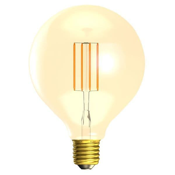 Bell Lighting 01472 4W LED Vintage 125mm Globe Dimmable - ES/E27, Amber, 2000K