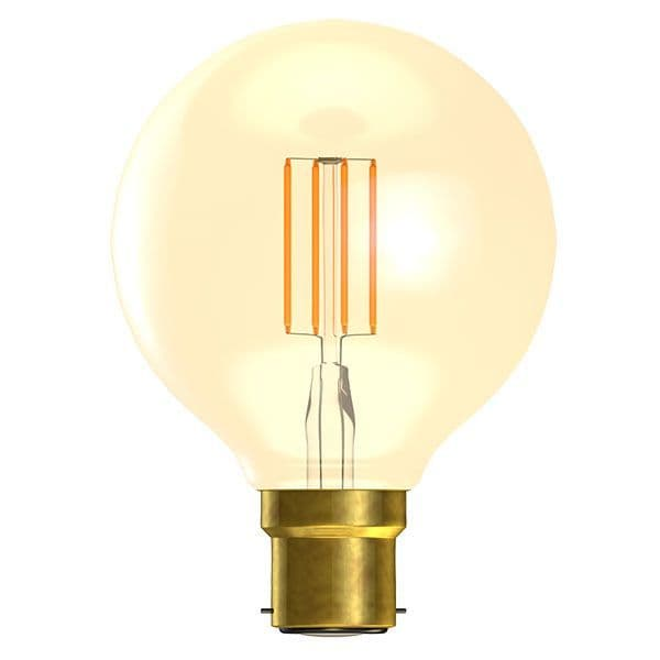 Bell Lighting 01473 4W LED Vintage Globe Dimmable - BC/B22, Amber, 2000K
