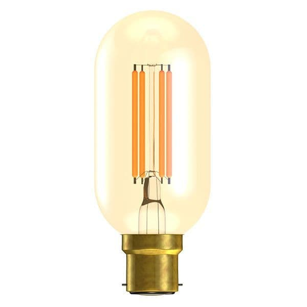 Bell Lighting 01500 4W LED Vintage Tubular Dimmable - BC/B22, Amber, 2000K