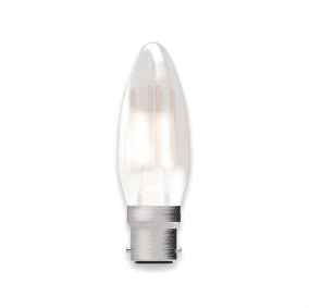 Bell Lighting 05127 4W LED Filament Satin Candle - BC, 2700K