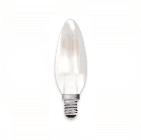 Bell Lighting 05130 4W LED Filament Satin Candle - SES, 2700K