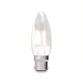 Bell Lighting 05312 4W LED Filament Satin Candle Dimmable - BC, 2700K