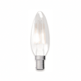 Bell Lighting 05313 4W LED Filament Satin Candle Dimmable - SBC, 2700K