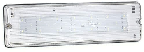 Bell Lighting 09044 7W LED Emergency Bulkhead - IP65, 6500K, Self Test