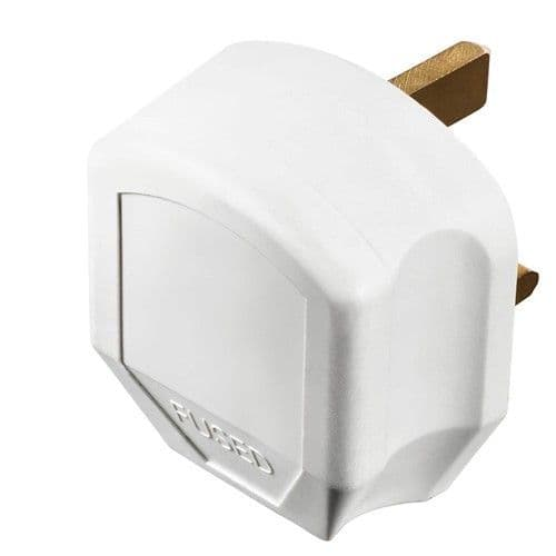 BG Electrical 7W-01 White Heavy Duty 13A Plug Fitted with 13A Fuse