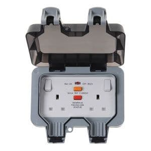 BG Electrical WP22RCD, 2 Gang, 13 Amp RCD Switched Socket (latching)
