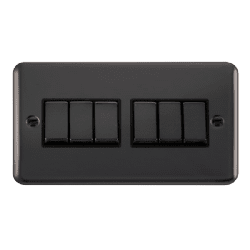 Click Deco Plus Black Nickel DPBNBK-SMART6Deco Plus 2G Plate 2 x 3 Apertures  6 x 10AX 2 Way