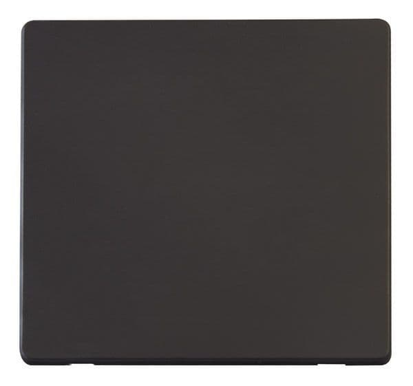 Click Definity SCP060BK 1 Gang Blank Plate Cover Plate - Black