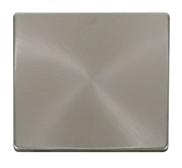 Click Definity SCP060BS 1 Gang Blank Plate Cover Plate - Brushed Stainless