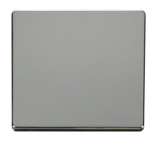Click Definity SCP060CH 1 Gang Blank Plate Cover Plate - Chrome