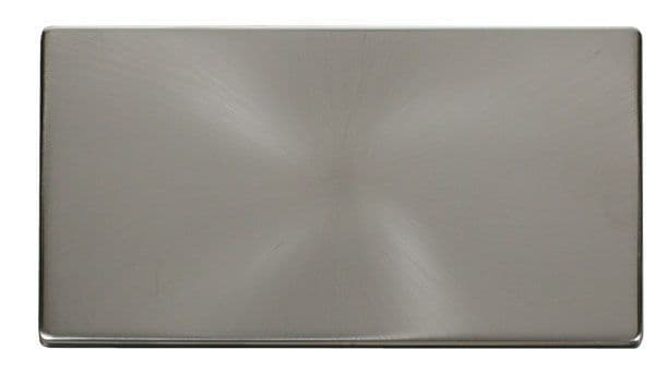 Click Definity SCP061BS 2 Gang Blank Plate Cover Plate - Brushed Stainless