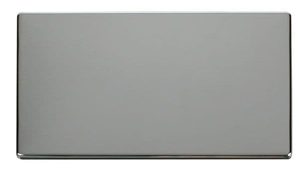 Click Definity SCP061CH 2 Gang Blank Plate Cover Plate - Chrome