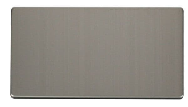 Click Definity SCP061SS 2 Gang Blank Plate Cover Plate - Stainless Steel