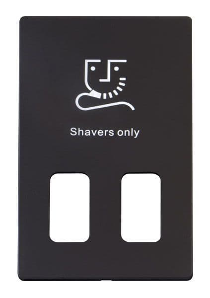 Click Definity SCP100BK Dual Voltage Shaver Socket Outlet Cover Plate - Black