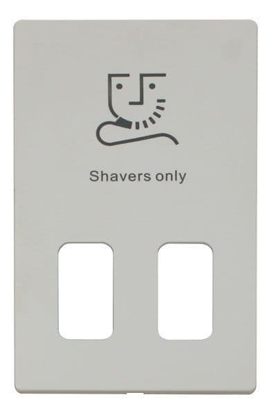 Click Definity SCP100PW Dual Voltage Shaver Socket Outlet Cover Plate - White