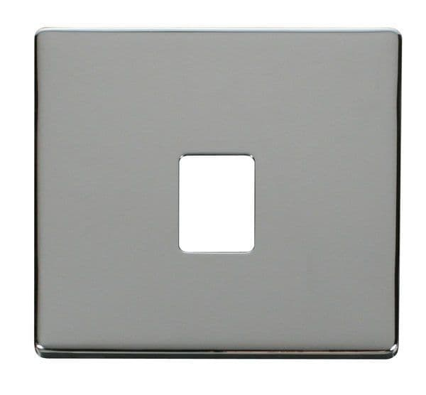 Click Definity SCP115CH Single RJ11/RJ45 Socket Outlet Cover Plate - Chrome