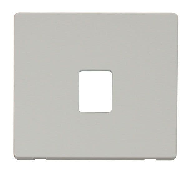 Click Definity SCP115PW Single RJ11/RJ45 Socket Outlet Cover Plate - White