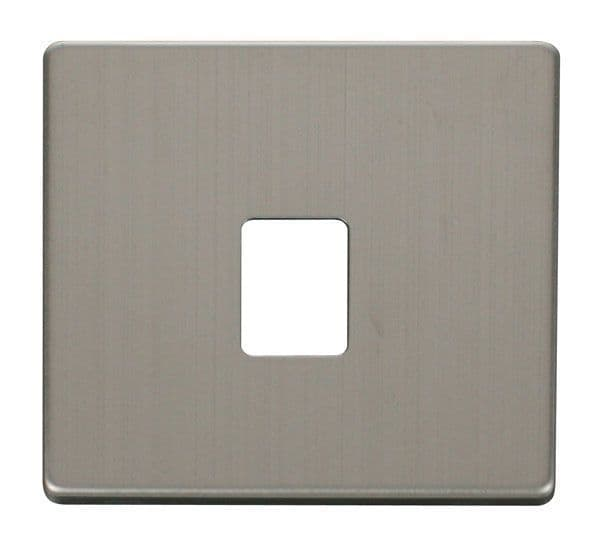 Click Definity SCP115SS Single RJ11RJ45 Socket Outlet Cover Plate - Stainless Steel