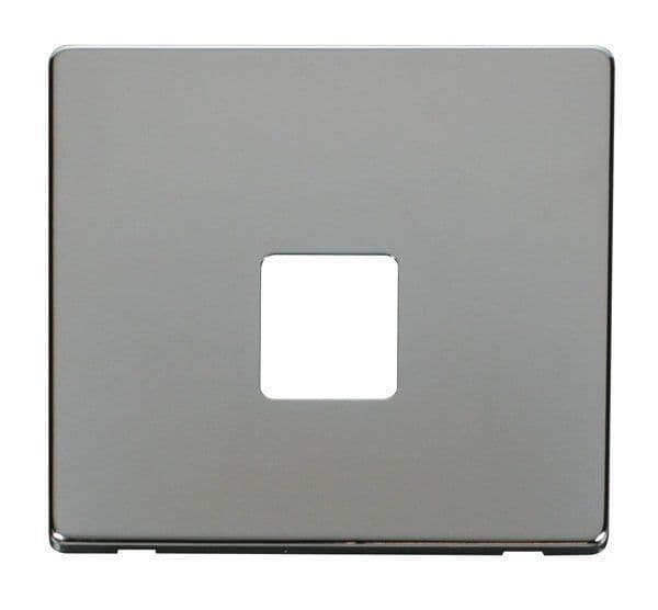 Click Definity SCP120CH Single Telephone Socket Cover Plate - Chrome