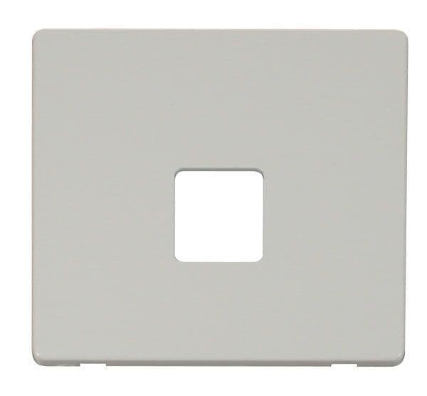 Click Definity SCP120PW Single Telephone Socket Cover Plate - White