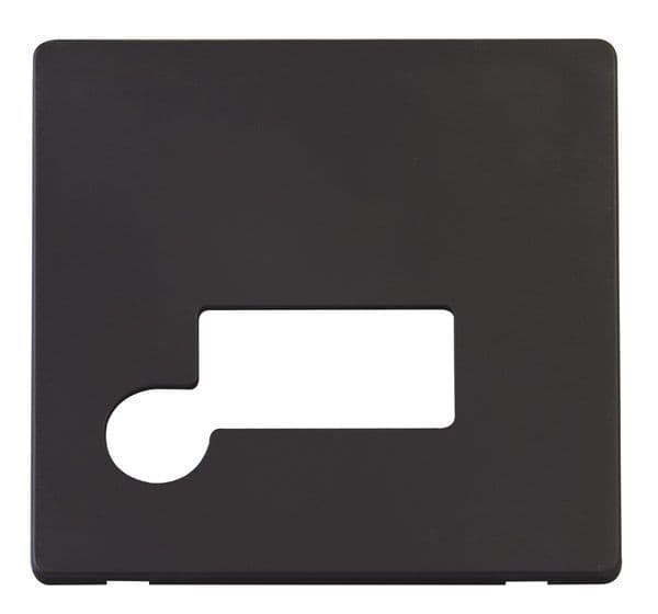 Click Definity SCP150BK Connection Unit With Flex Outlet Cover Plate - Black