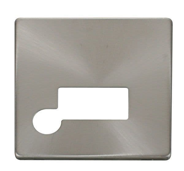 Click Definity SCP150BS Connection Unit With Flex Outlet Cover Plate - Brushed Stainless