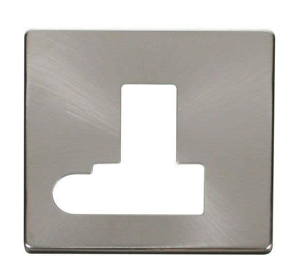 Click Definity SCP151BS Switched Connection Unit With Flex Outlet Cover Plate - Brushed Stainless