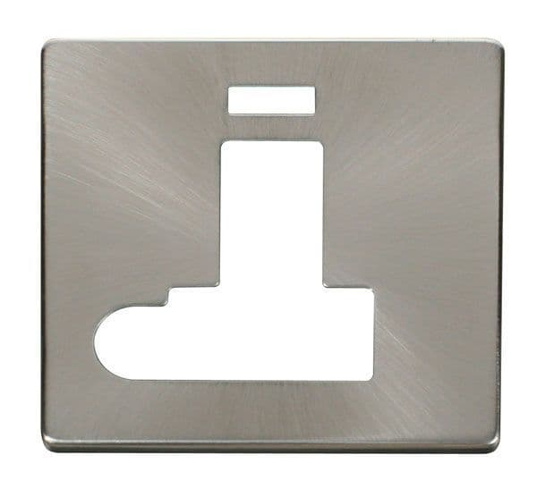 Click Definity SCP152BS Switched Conn. Unit With Flex Outlet & Neon Cover Plate - Br. Stainless