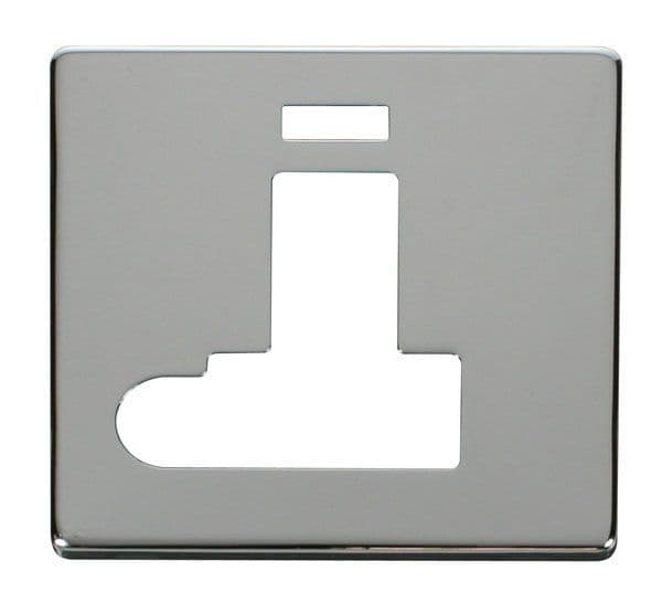 Click Definity SCP152CH Switched Connection Unit With Flex Outlet & Neon Cover Plate - Chrome