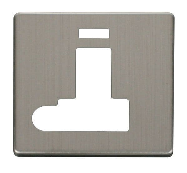Click Definity SCP152SS Switched Connection Unit With Flex Outlet & Neon Cover Plate - St. Steel