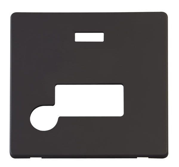 Click Definity SCP153BK Connection Unit With Flex Outlet & Neon Cover Plate - Black