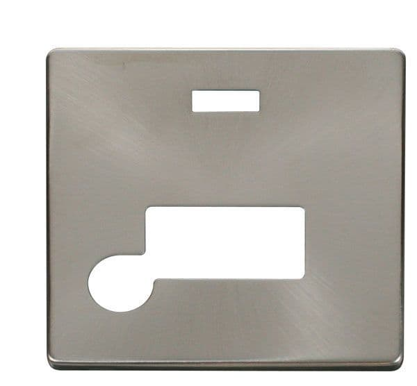 Click Definity SCP153BS Connection Unit With Flex Outlet & Neon Cover Plate - Brushed Stainless
