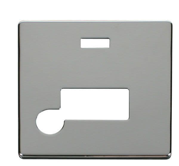 Click Definity SCP153CH Connection Unit With Flex Outlet & Neon Cover Plate - Chrome