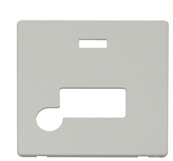 Click Definity SCP153PW Connection Unit With Flex Outlet & Neon Cover Plate - White